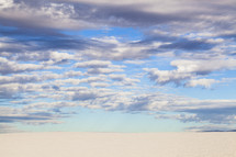 vast sands and blue sky
