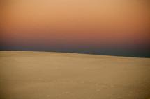 snowy landscape and horizon
