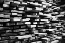 Stacks of sawn lumber