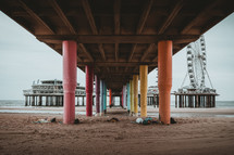 amusement park on a pier