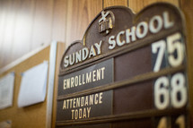 Sunday School attendance