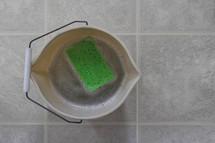 sponge in a bucket