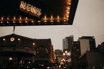news neon light