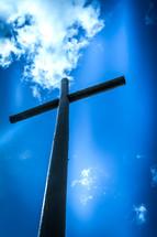 cross under a blue sky