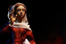Mary from a nativity set