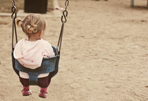 Girl in a swing