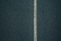 off center line on a road