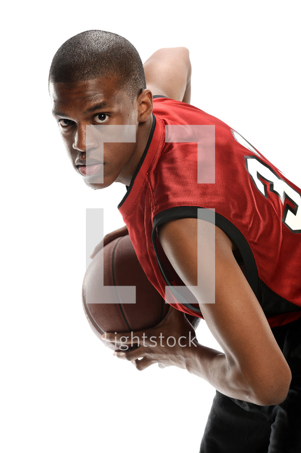 man holding a basketball