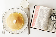 Breakfast with a Bible.