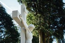statue of Jesus on the cross