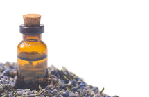 Lavender Essential Oil in a Corked Bottle