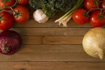 boarder of vegetables