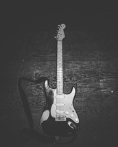 electric guitar on a wood floor