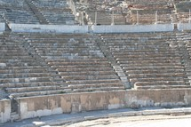 Biblical Ephesus Stadium. This is the large stadium in Ephesus where people rioted in anger to the message of St. Paul (see Acts 19:23-41). This Roman arena was home to gladiator fights and other Roman entertainment.