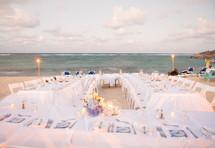 outdoor reception on a beach