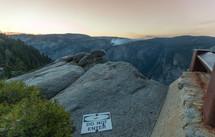 do not enter sign on a mountain