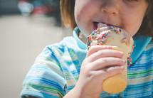 a girl eating ice cream