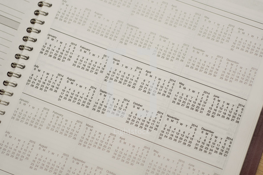 planner and calendar