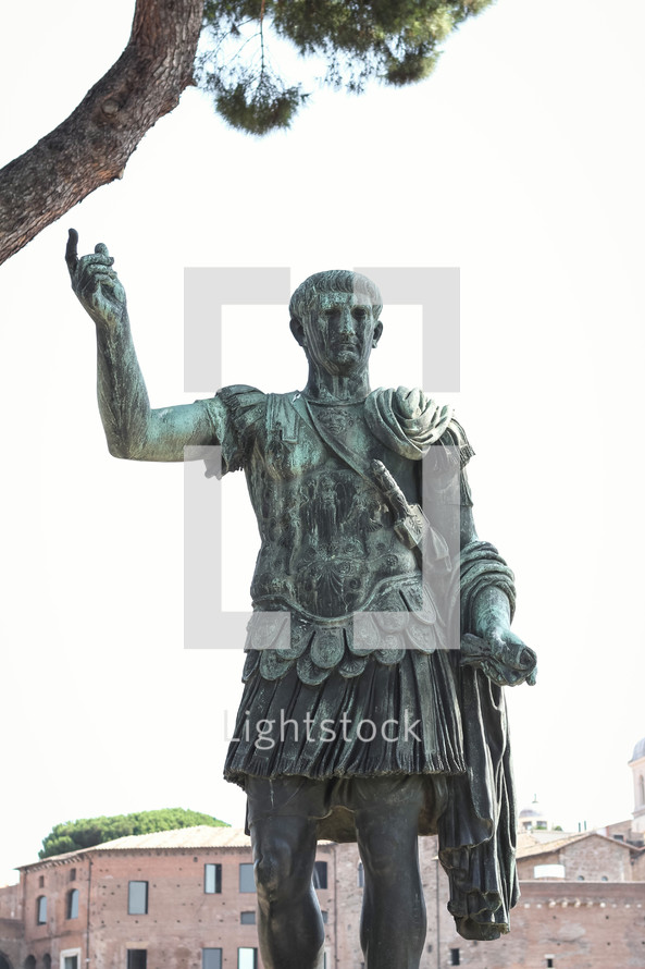 Roman soldier statue in Italy