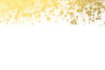 gold paint splats on edge
