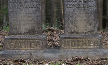 father and mother headstones