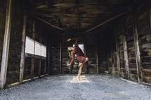 dancing in a barn