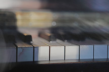 abstract styled  acoustic piano close up