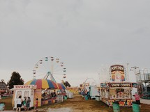 rides and food at a fair