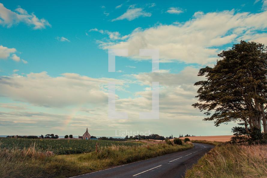 road through Scottish Countryside