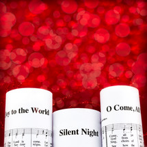 JOy to the world, Silent Night, and O Come All ye faithful sheet music