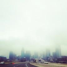 fog over a city