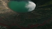 pond in a crater