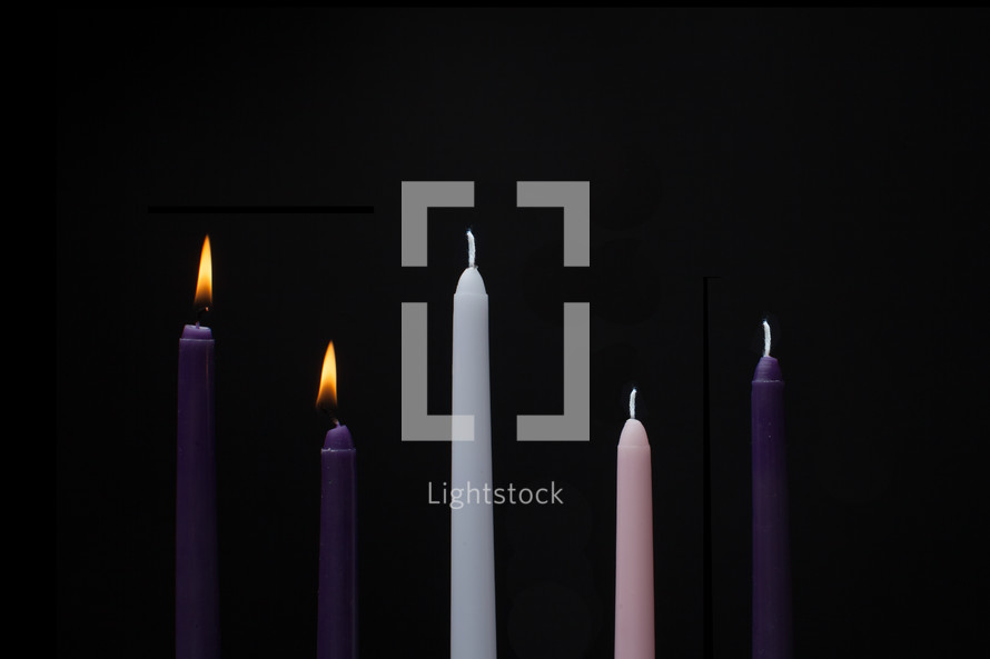 burning advent candles