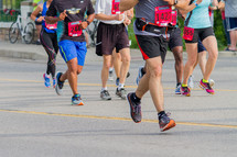 legs of runners in a race