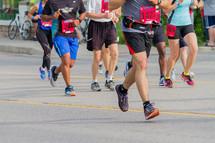 legs of runners in a race