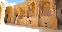 mosque courtyard in Iran