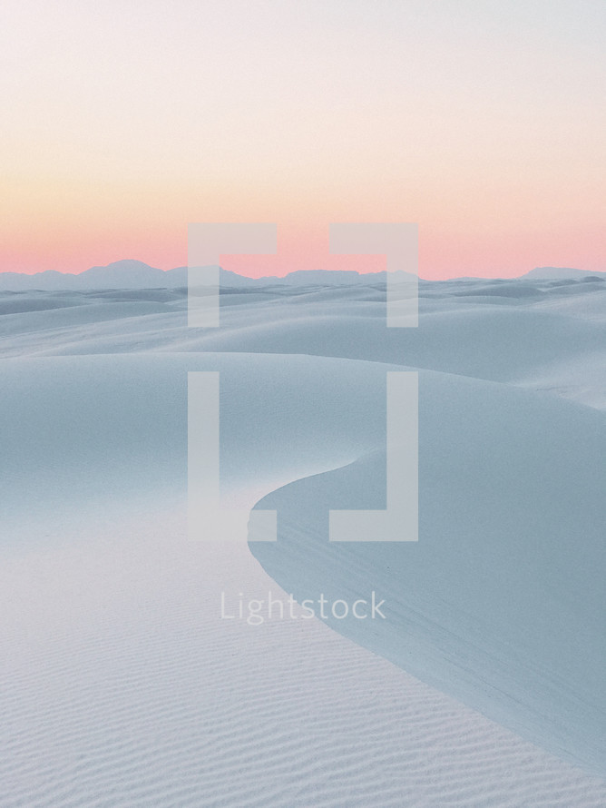 white sands of a desert