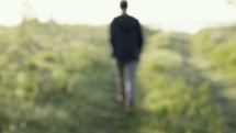 man walking outdoors