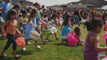 children at an Easter egg hunt