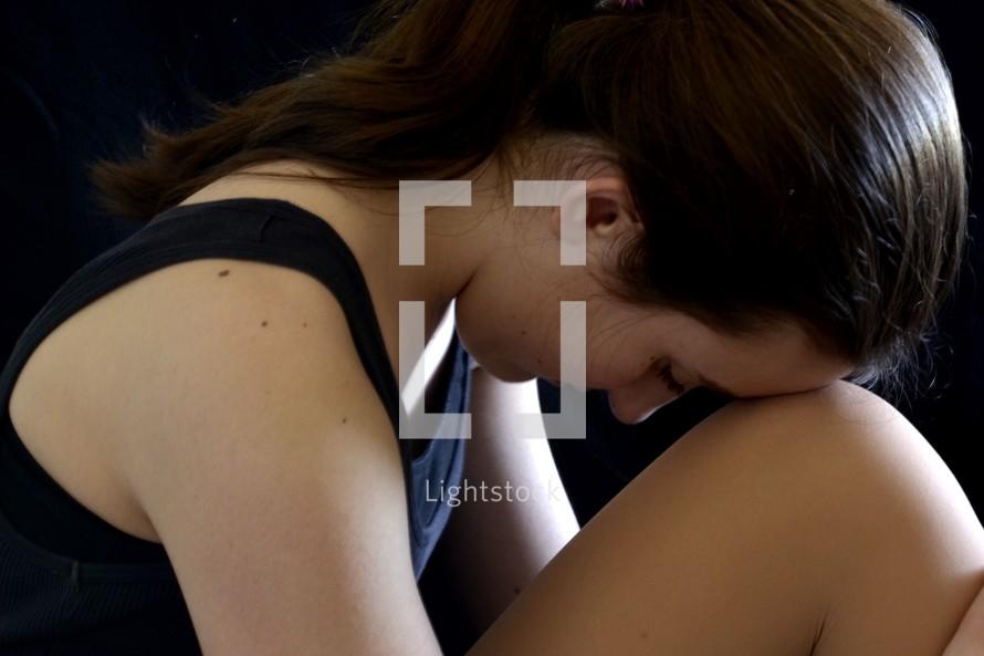 woman in hardship
