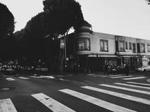 crosswalk on a downtown street