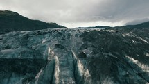 drone over Glaciers in Iceland