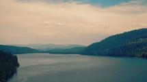Rising over lake