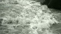 flowing water in rapids
