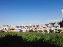 row houses in a neighborhood