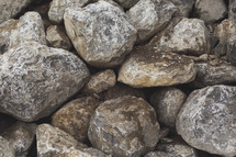 a very large background of boulders