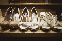 Three pairs of women's shoes