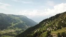 green mountain landscape in Switzerland