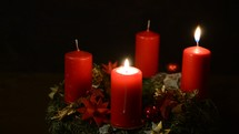 lighting two advent candles