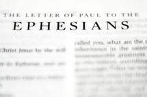 Title of the book of Ephesians up close